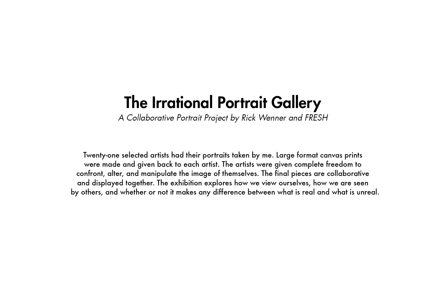 The Irrational Portrait Gallery