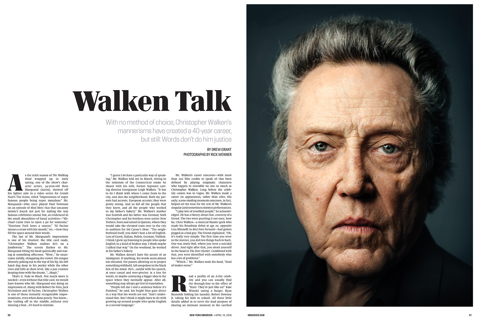 Observer - Christopher Walken