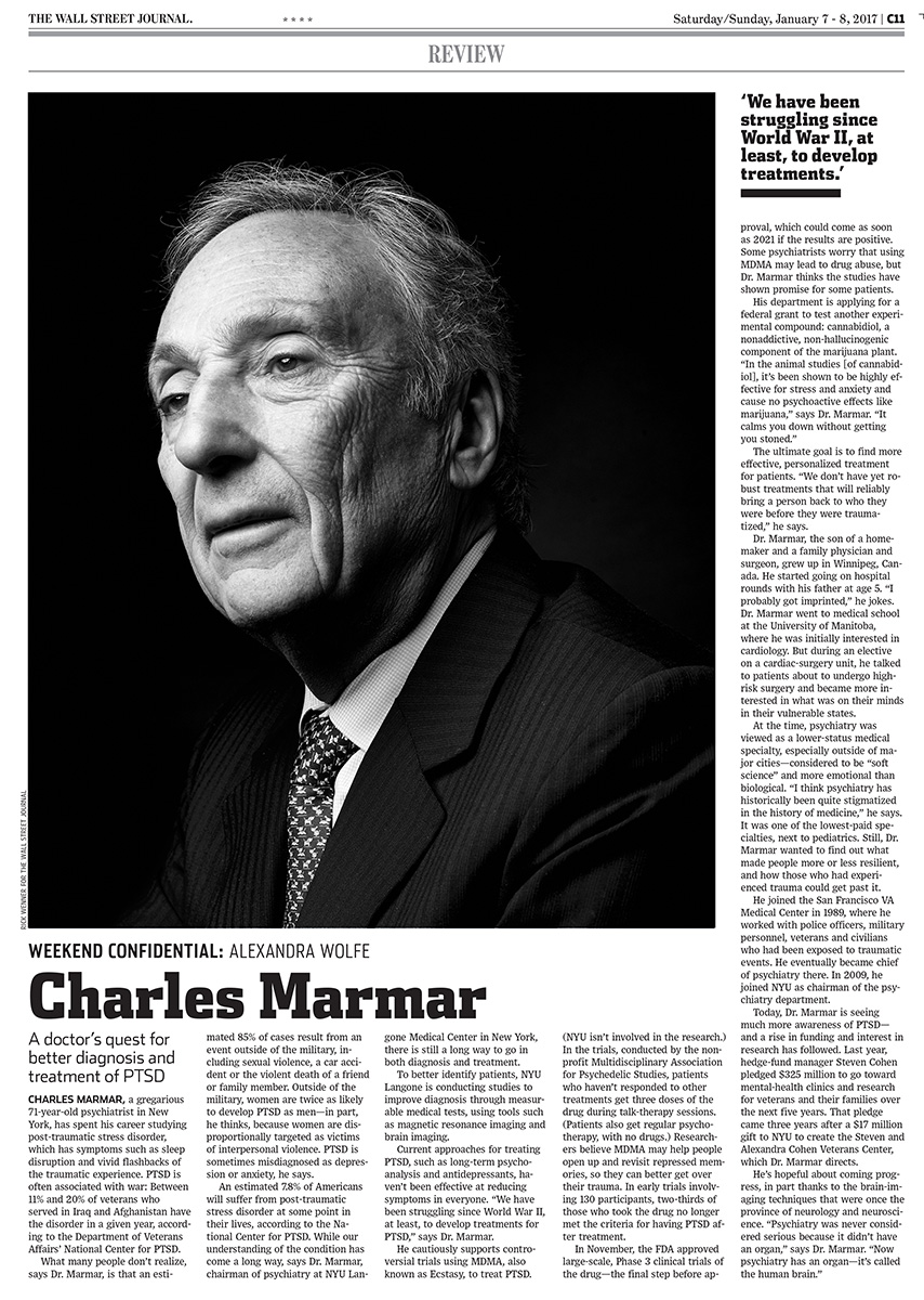 Wall Street Journal - Dr Charles Marmar