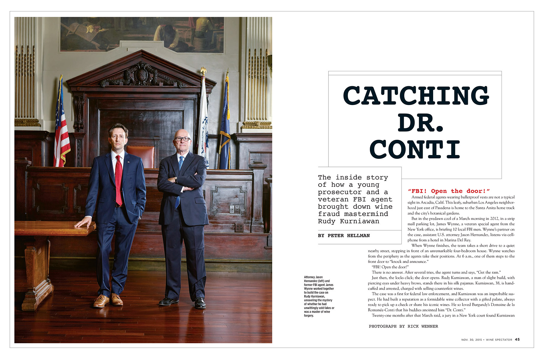 Wine Spectator - Catching Dr Conti